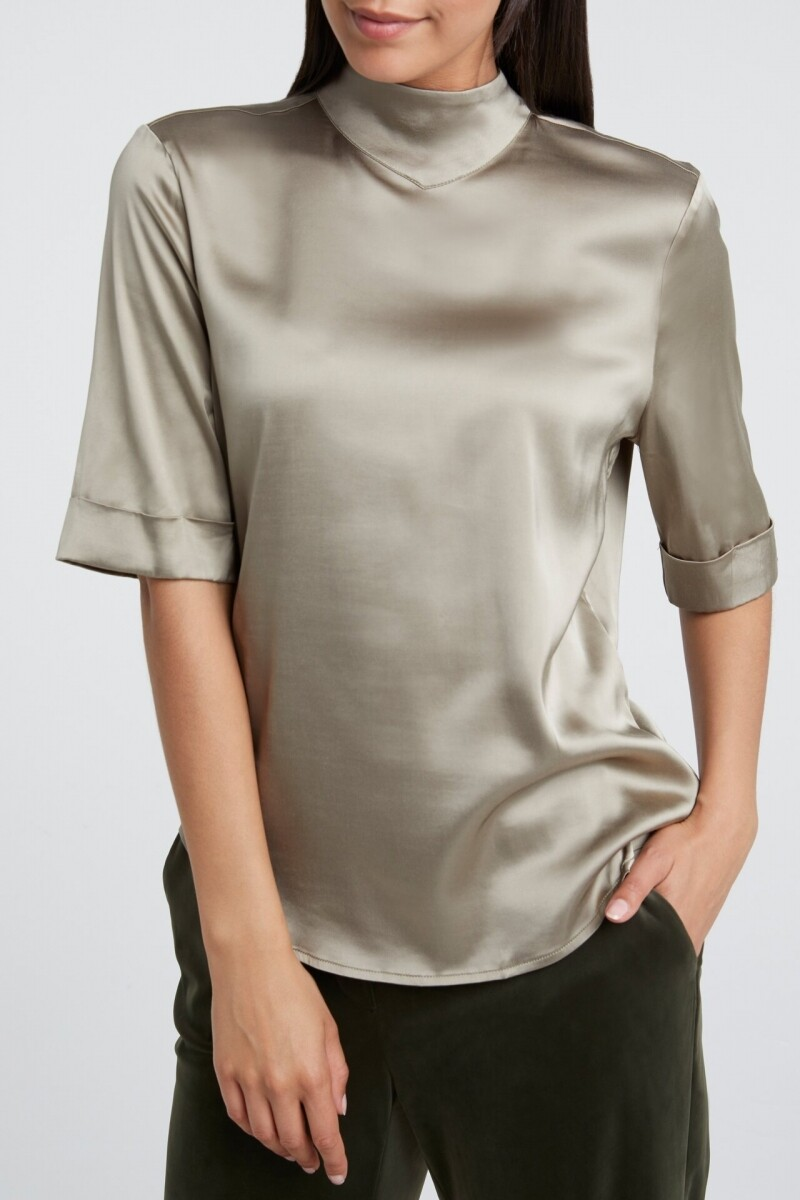 YAYA Satin top SILVER SAGE