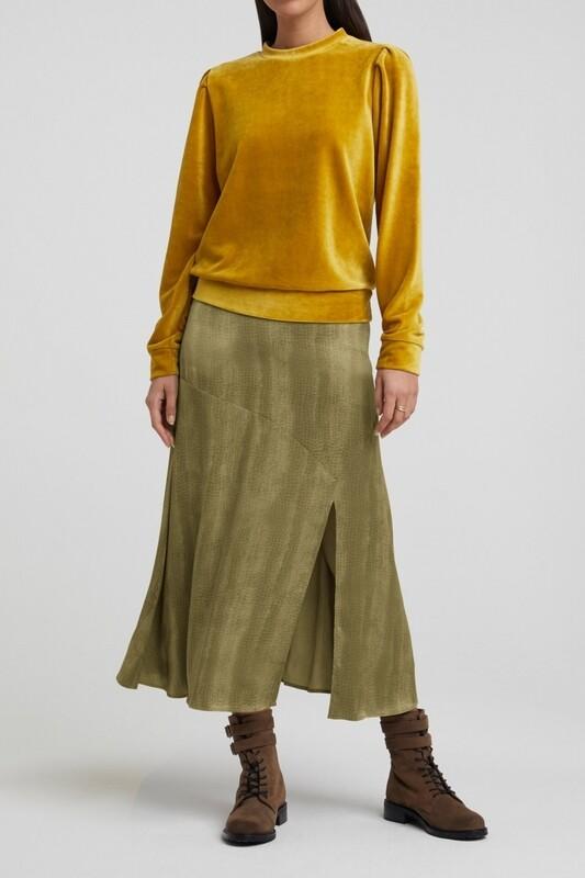 YAYA A-line skirt STONE GRAY DESSIN