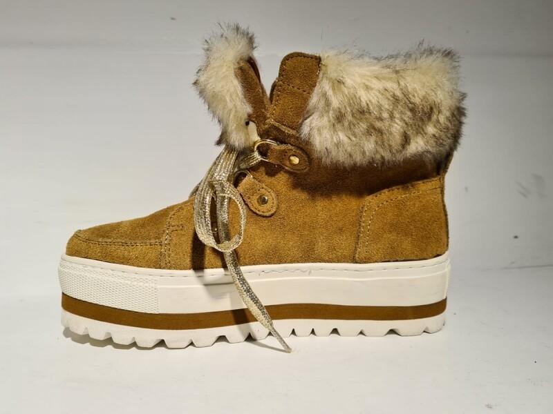 MTNG/67 Snowboot faux fur Cognac
