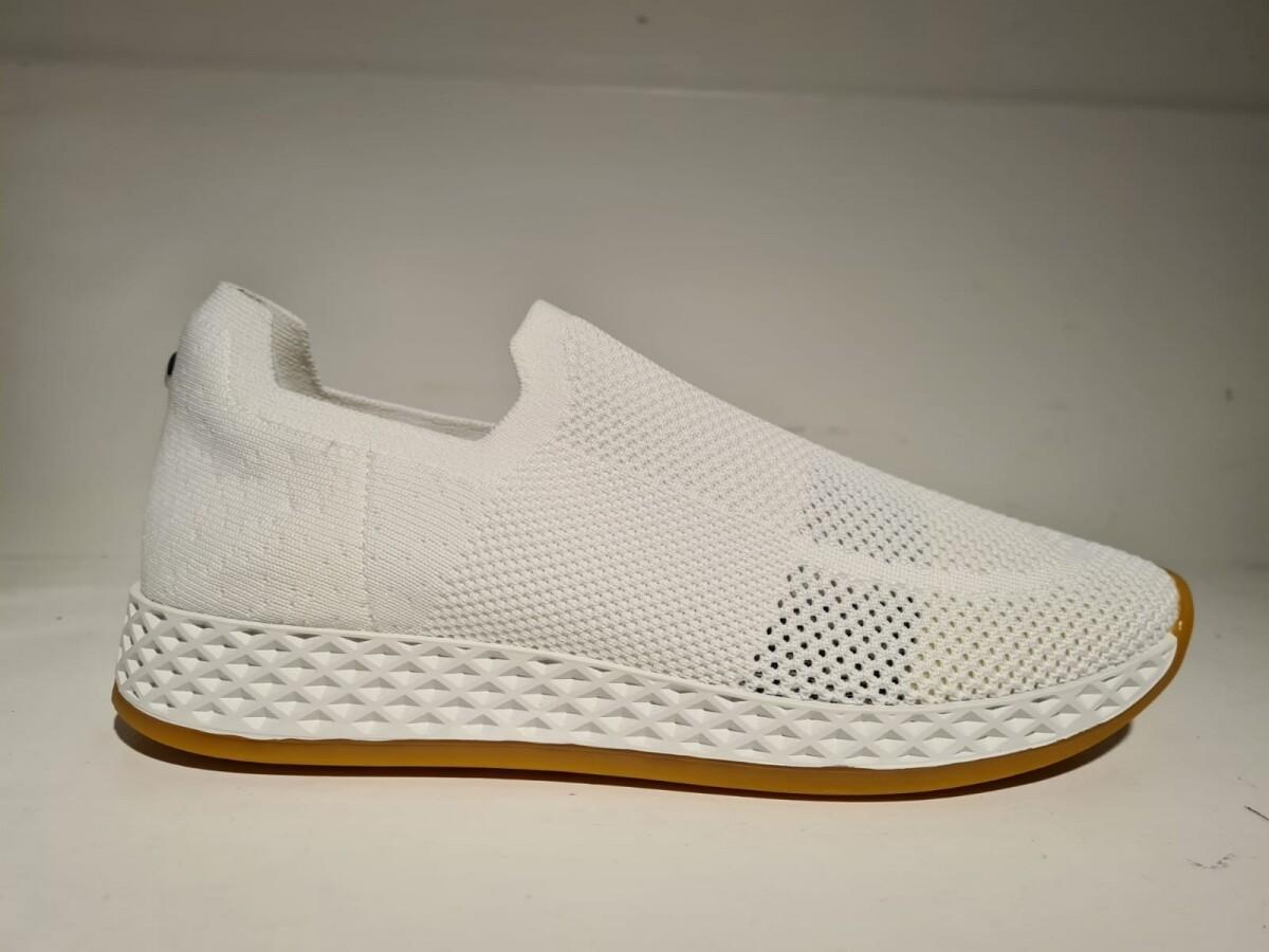 La Strada knitted sneaker White