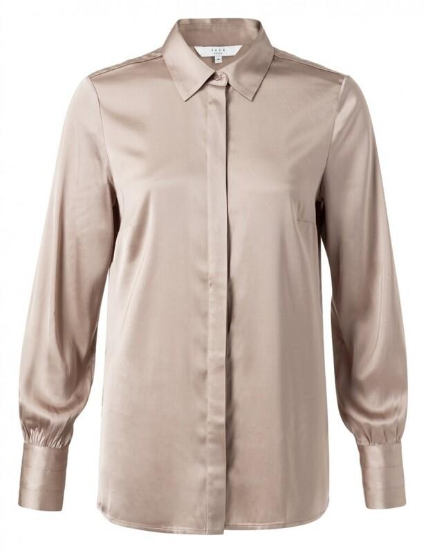YAYA Satin blouse DUNES
