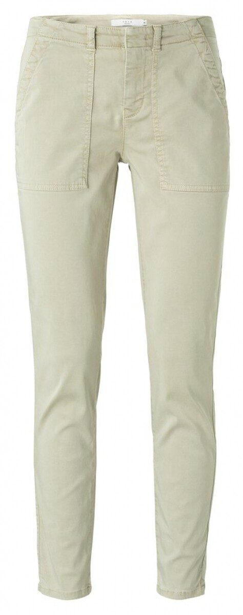 YAYA Skinny worker trousers EUCALYPTUS