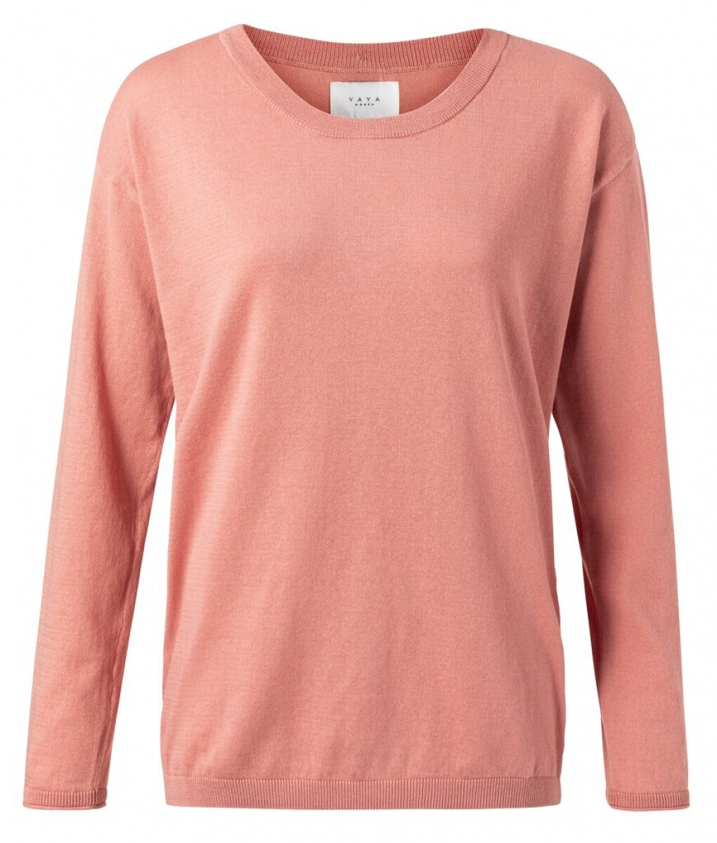 YAYA Sweater buttons 100% Cotton ROSE DAWN