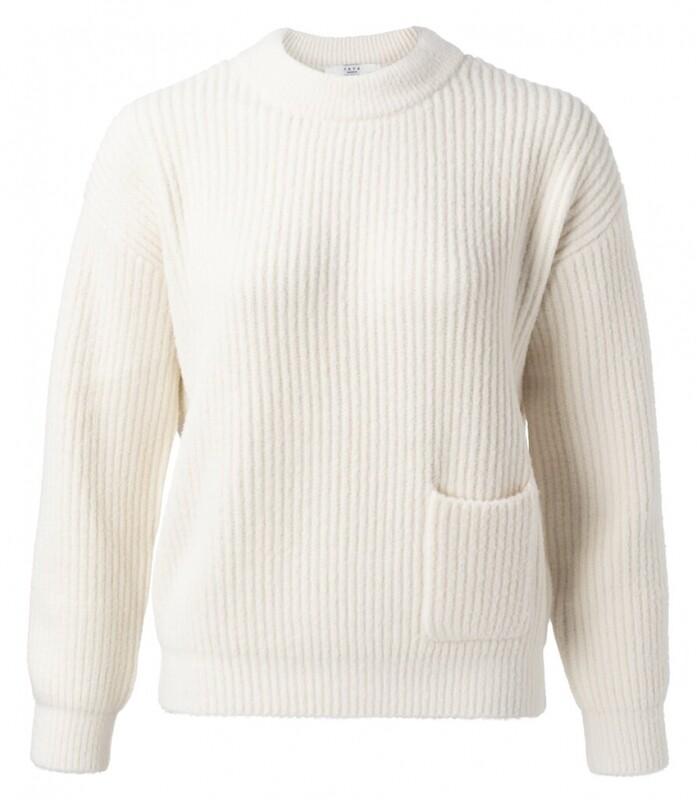 Yaya Sweater Fluffy WOOL WHITE