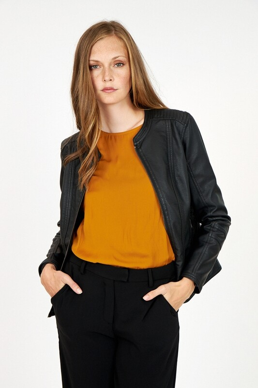 Soya Concept Jacket Amalie Vegan Leather Black