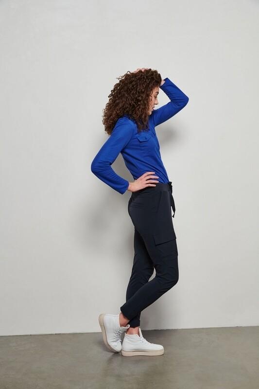 & CO travel pantsPiene Dark Blue