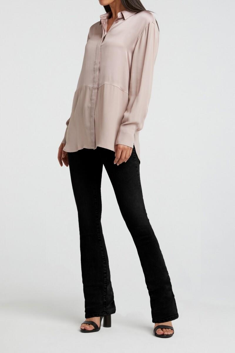 YAYA GREY High waist flared jeans DENIM