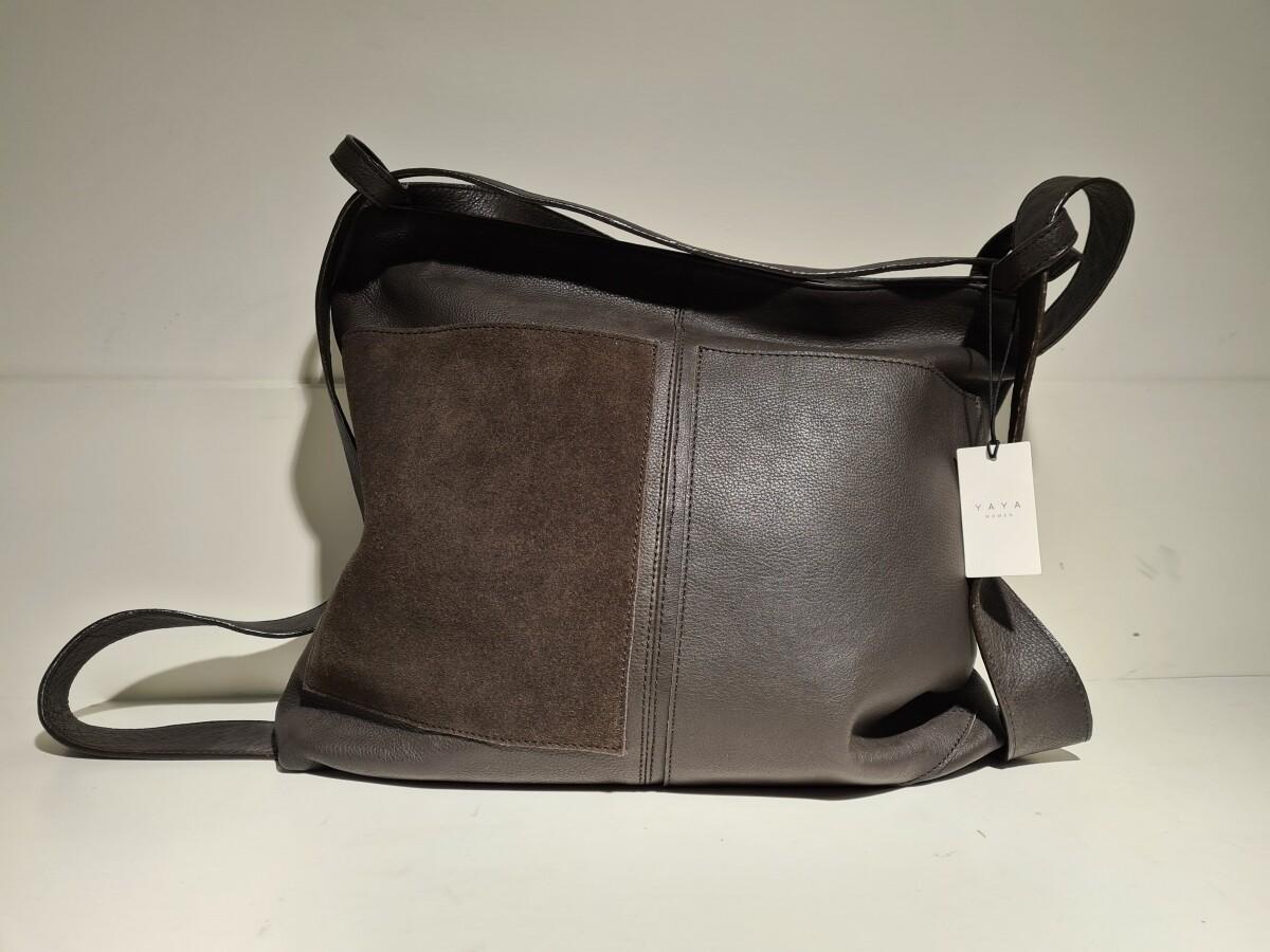 Leren tas in een mooie donkerbruine kleur