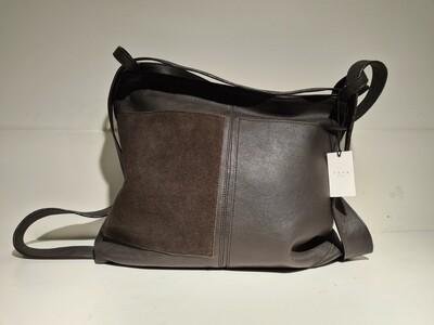 YAYA Bag Suede Dark Brown