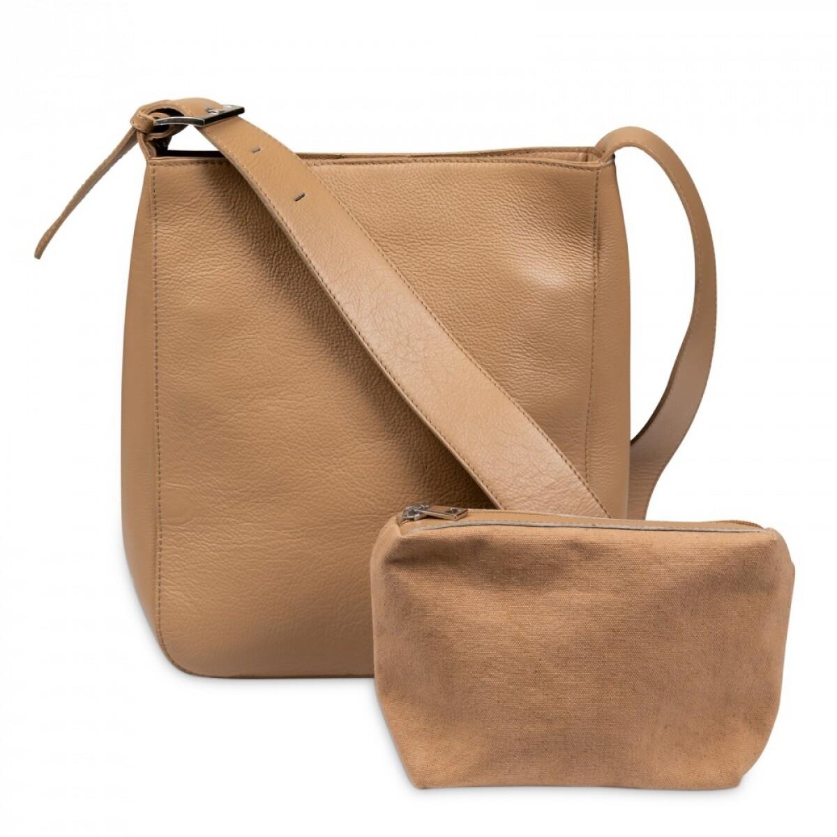 YAYA Leather Bag & purse BROWN CLAY