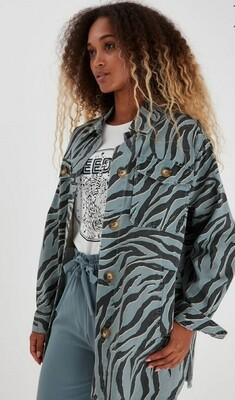 B.Young Bolco Shirt Jacket Misty blue/black