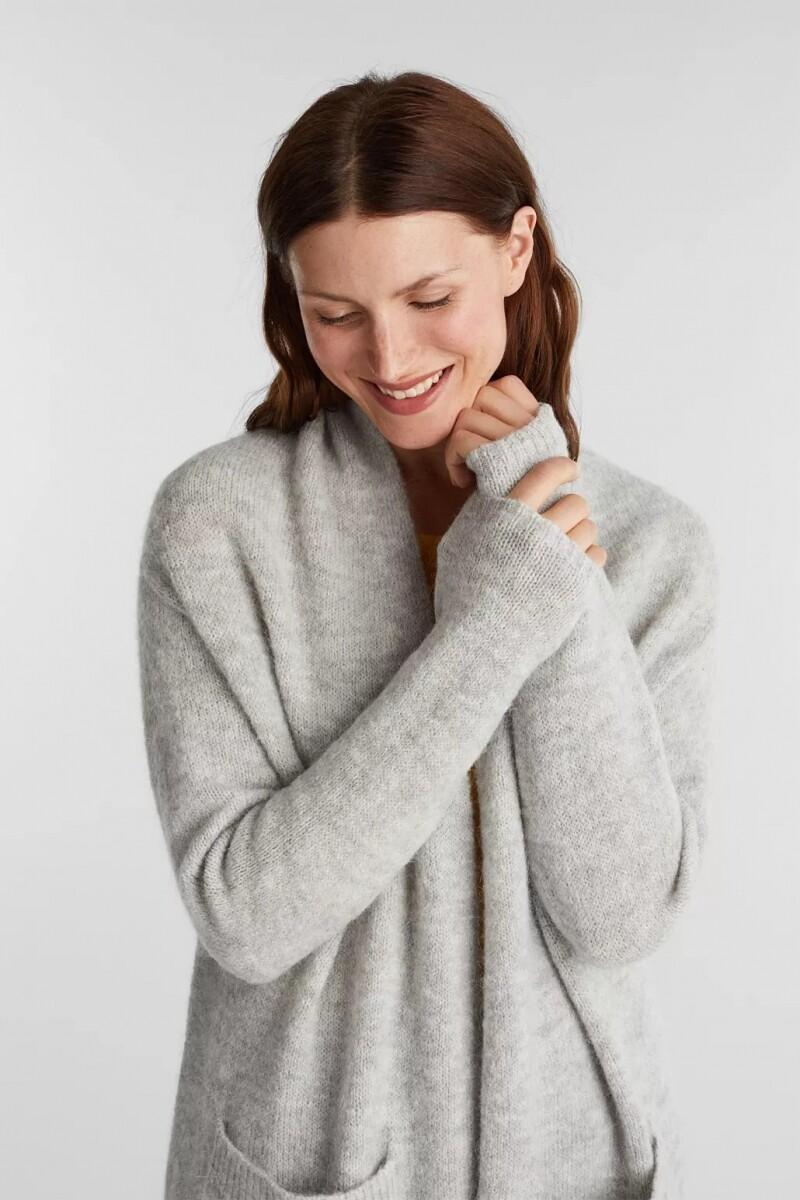 Esprit Cardigan met sjaalkraag grijs