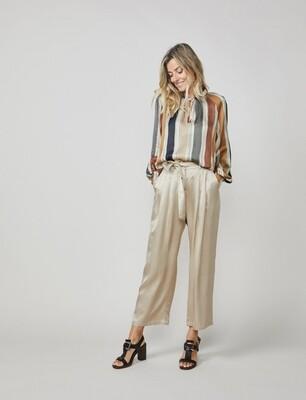 Summum Satin pants Ivory