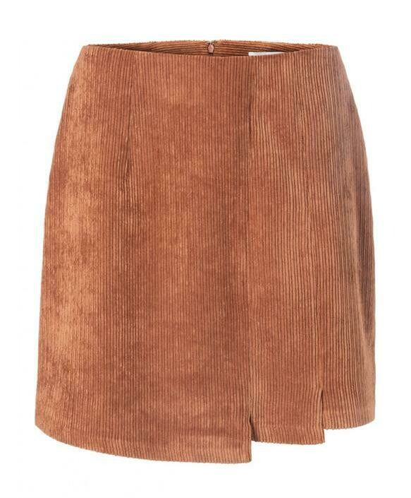 YAYA Rib mini skirt RUST
