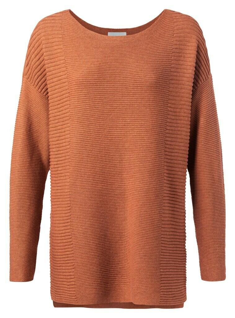 YAYA Puur katoenen trui in mooie brique kleur