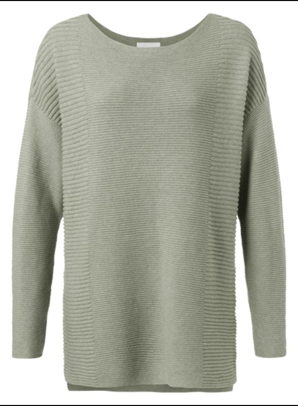 YAYA Cotton sweater ARMY GREEN