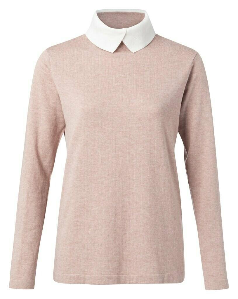 Yaya Sweater collar CORAL DESSIN
