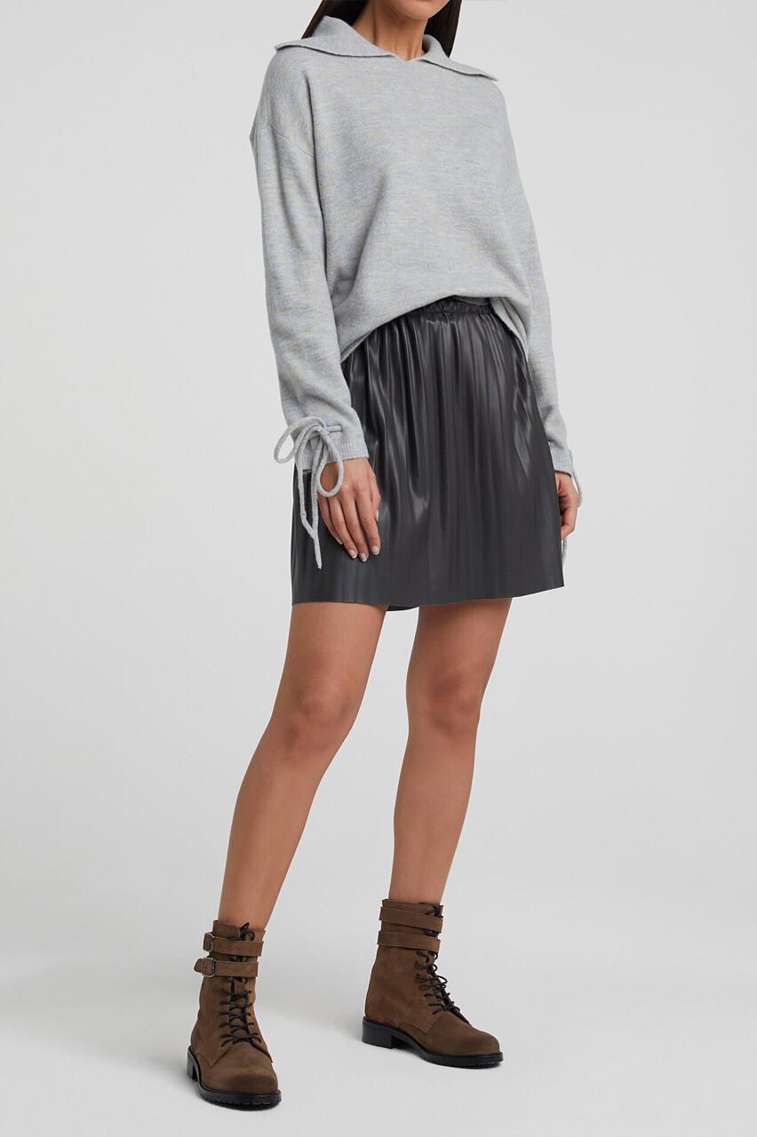 YAYA Skirt Vegan Leather PHANTOM
