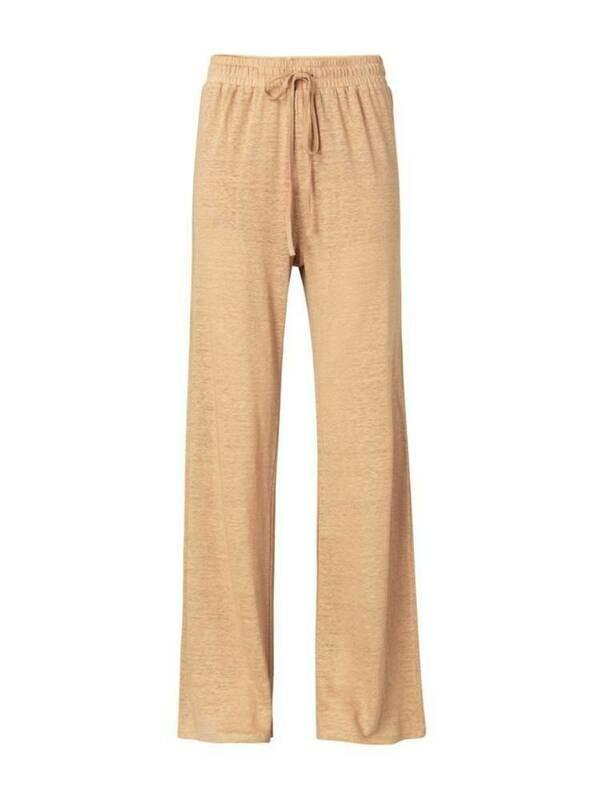 YAYA Linen Loose fit Pants SAND