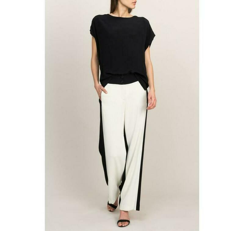 Summum Wide pantalon black/white