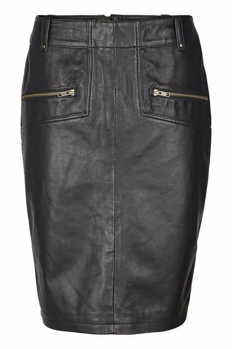 Culture Leather skirt Black