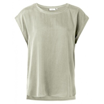 YAYA T-shirt with rounded hems SILVER SAGE