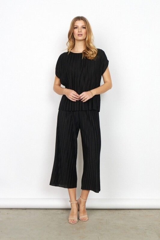 Soya Concept Kirit4 plisse Pants Black