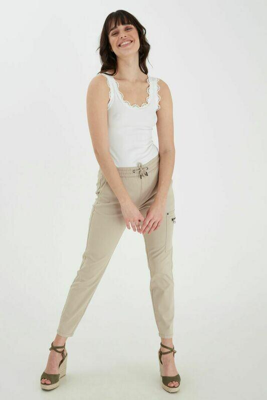 Fransa Pants Utility beige