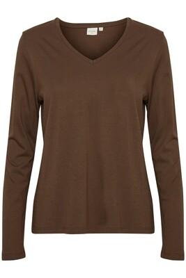 Cream Shirt dark Brown