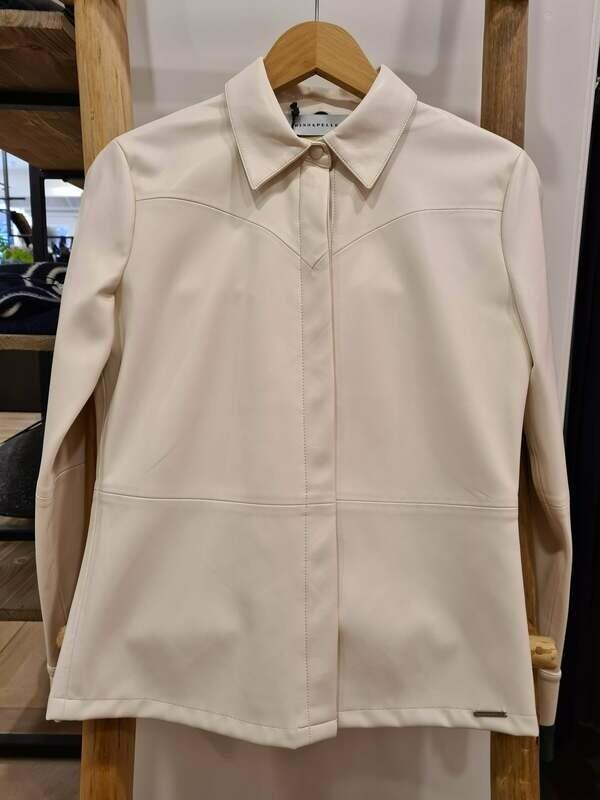 Rino & Pelle Vegan Leather Blouse Tanner Off White