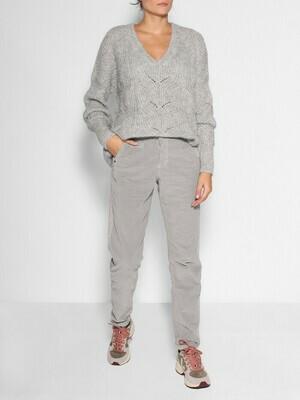 Summum Velvet Pants Grey