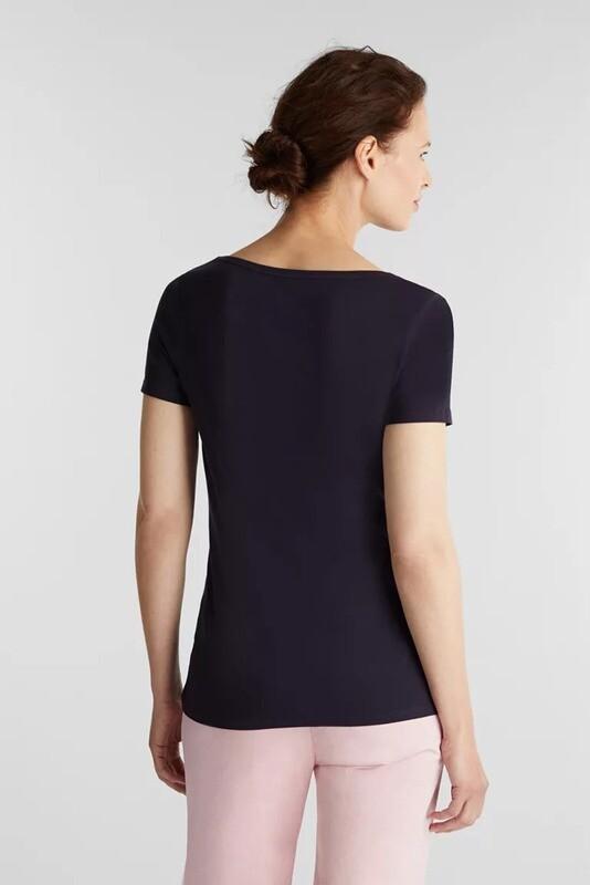 Esprit t-shirt d.blauw