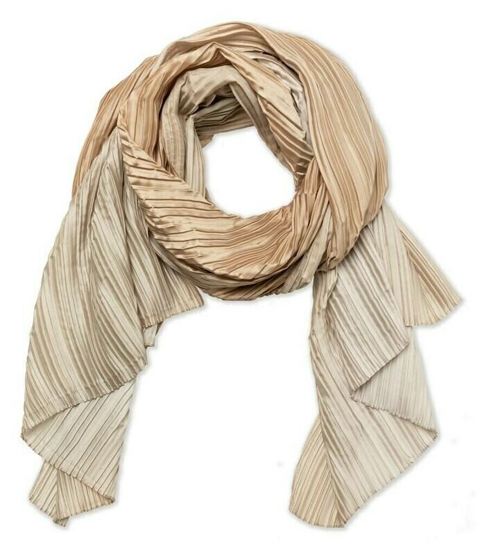 YAYA Plisse scarf tie-dye SEAWEED DESSIN