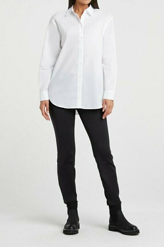 YAYA Poplin shirt PURE WHITE