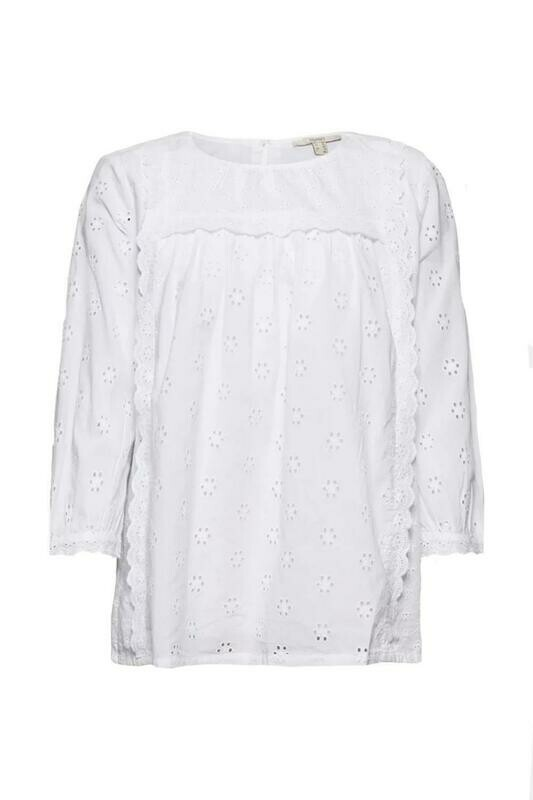 Esprit Broderie Blouse White