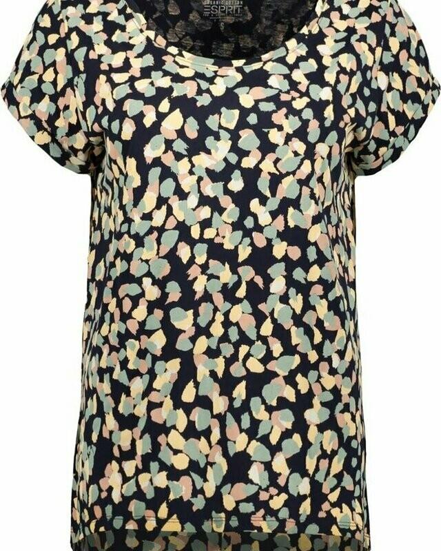 Esprit shirt print cotton multicolor