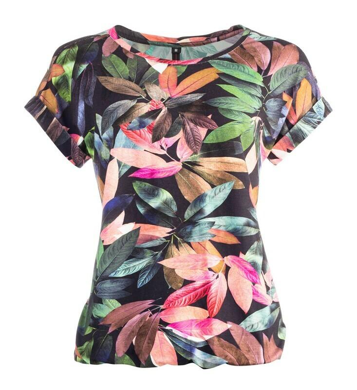 NED viscose bloem print t-shirt