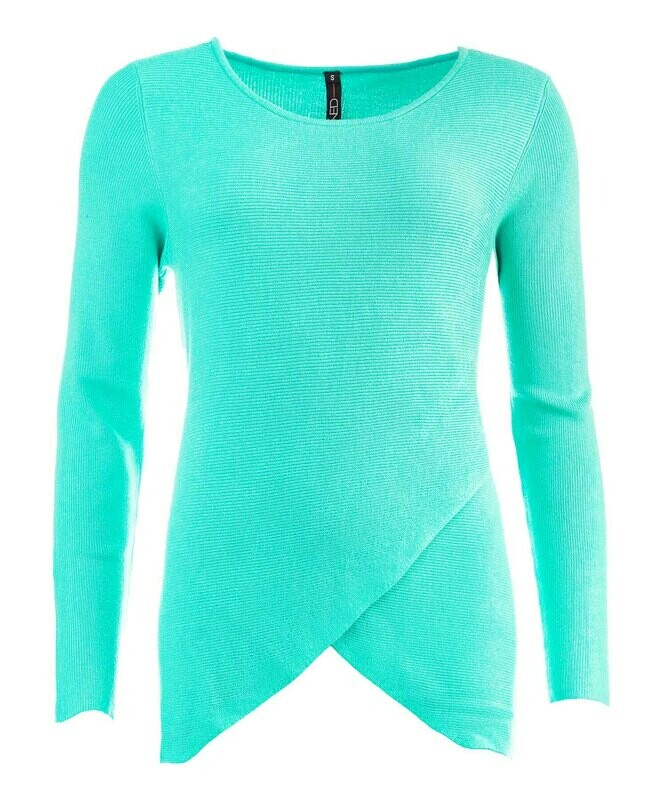 NED trui met aparte voorkant in het mintgroen
