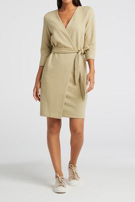 YAYA dress Jersey fake wrap SOFT SAGE