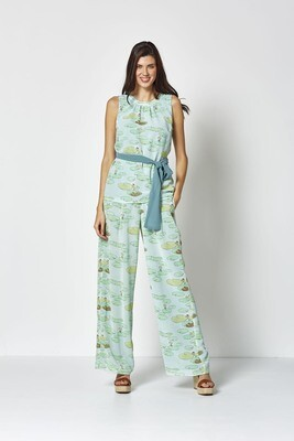 Md'M Waterlily trousers wide Green