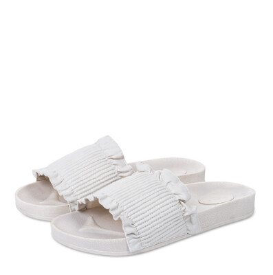 YAYA Slippers Ruffles PEBBLE