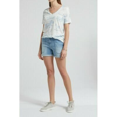 YAYA t-shirt Linen LIGHT BLUE