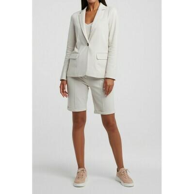 YAYA Shorts Jersey cotton  PEBBLE