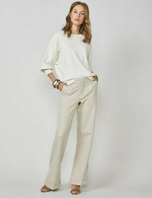 Summum Trousers Cotton Sand