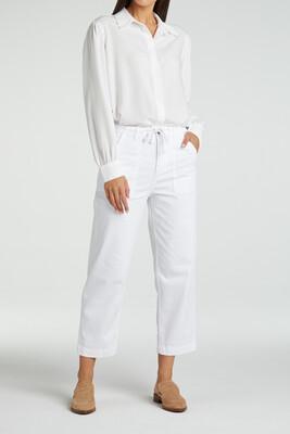 YAYA Cargo Chino Cottonmix High Waist 7/8 PURE WHITE