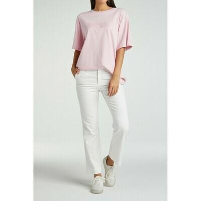 YAYA Kick-flare chino cotton 7/8 length BLANC DE BLANC