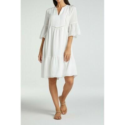 YAYA Dress Midi a-line Viscosemix BLANC DE BLANC