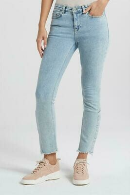 YAYA Jeans with Buttons GREY DENIM