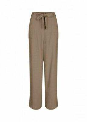 Soya Concept Pants Linen Olive Green