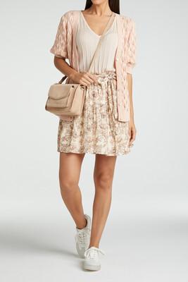 YAYA Skirt Print Viscose SHEER PINK DESSIN